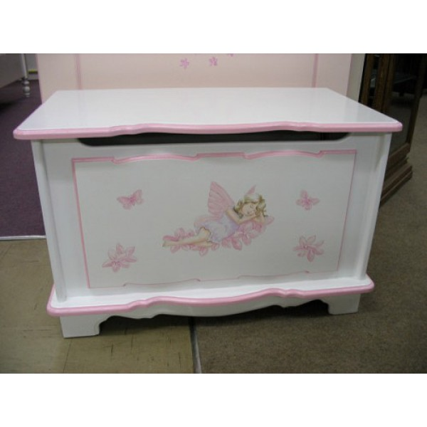"Toy Box 2ft6"" Fancy Style With Sleeping Fairy"