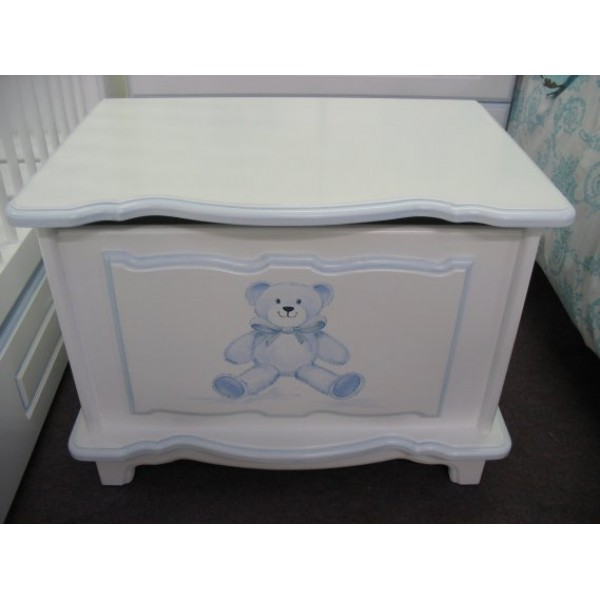 Toy Box 2ft Fancy Style  Baby Blue Bear Personalised