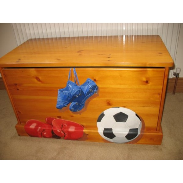 Toybox 3ft Pine Solid Skirting Boots & Boxing