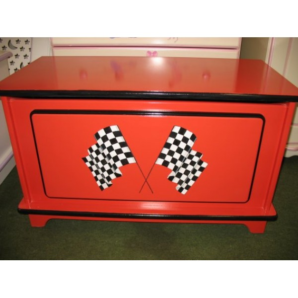 Toybox 3ft Plain Red Chequered Flags