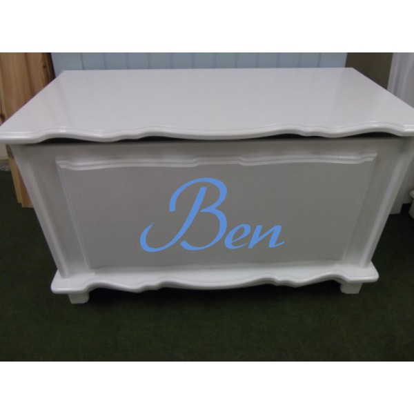 Toybox 3ft Fancy Plain White With Name