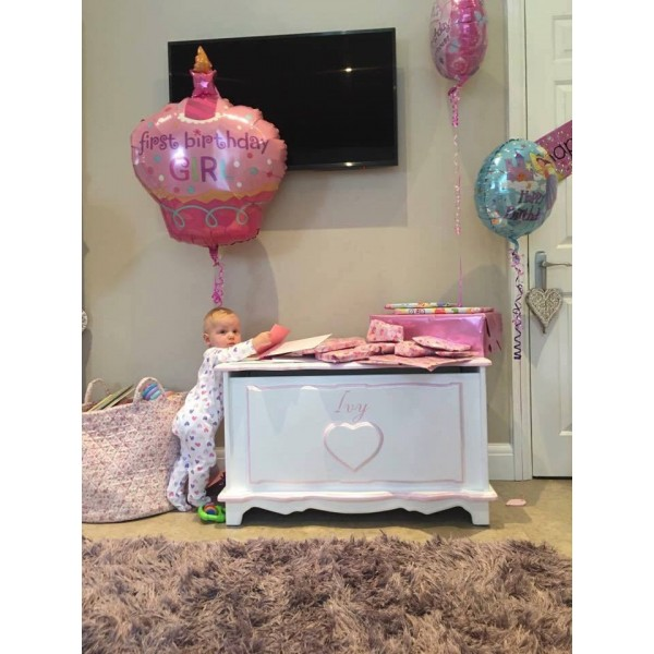 Personalised 3ft Toy Box With Heart